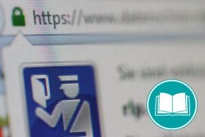 Adresszeile eines Browsers, in der eine sichere Verbindung angezeigt wird