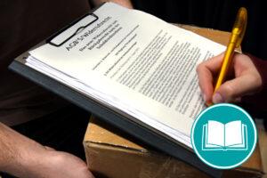 Zustimmung der Allgemeinen Geschäftsbedingungen durch Unterschrift