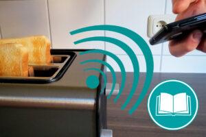 Toaster, der sich automatisch mit einem Smartphone-Wecker verbindet und selsbstämndig das Toast vorbereitet.