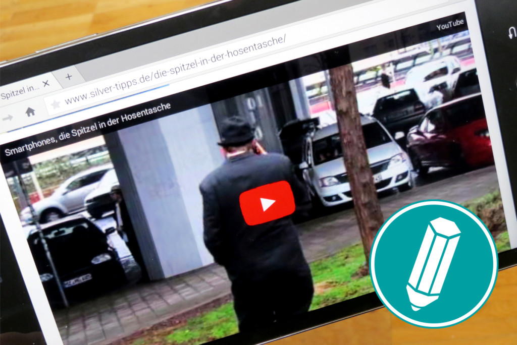 Roter Record-Button auf YouTube-Video.