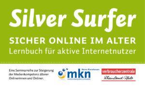 """Logo der Kursreihe """"Silver Surfer - Sicher online im Alter""""."""