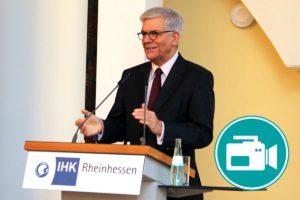 Thomas Bellut, Intendant des zweiten deutschen Fernsehens, bei einem Vortrag.