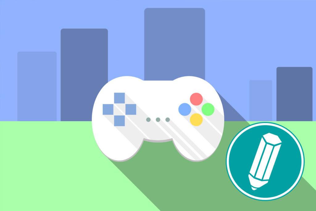Auf dem Bild ist ein Controller zu sehen, mit dem man Computerspiele spielen kann.
