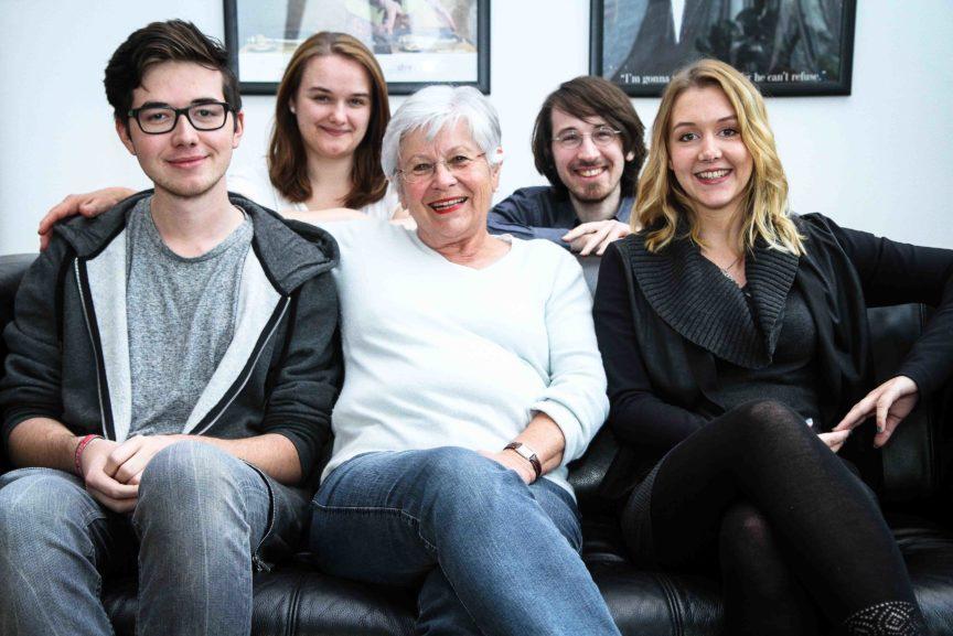 Ein Familienfoto.