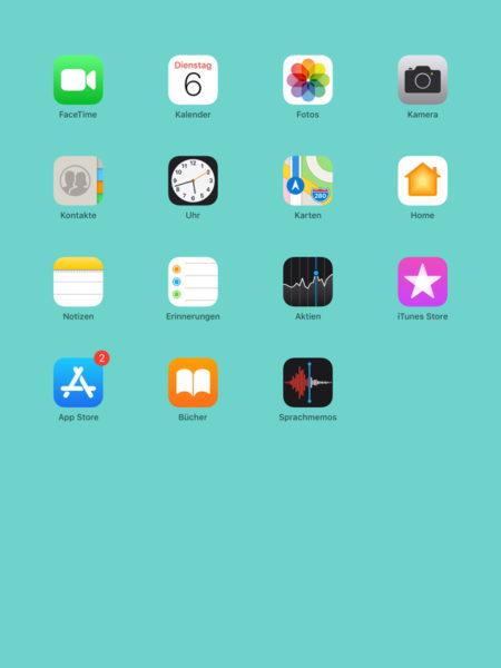 Drückt man den Menüknopf in der unteren Mitte des Geräts, wird der Löschvorgang be-endet und die Apps auf dem Bildschirm stehen wieder still.