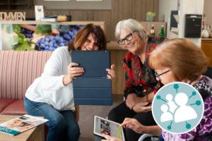 Mit Angehörigen und Bekannten digital in Kontakt bleiben