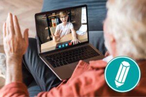 Virtuelle Aktionen mit Enkelkindern